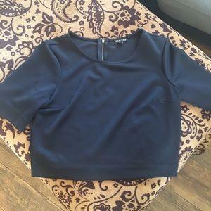 Medium express black crop top worn once